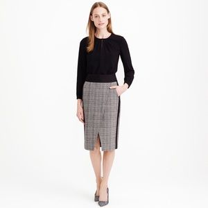NWT J. Crew Glen Plaid Crossover Skirt Size 2